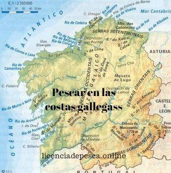 mapa de pesca en galicia