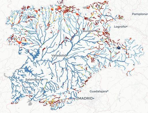 mapa de las zonas de pesca en castilla y león