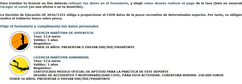 solicitud online para licencia de pesca marítima