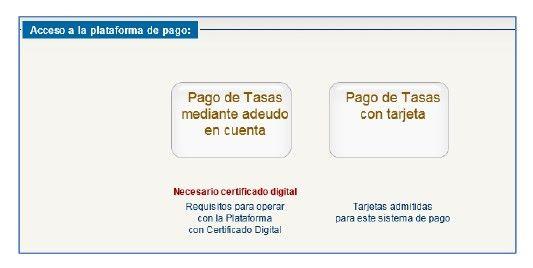 pago de la tasa para obtener la licencia de pesca con tarjeta