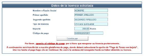 validacion de los datos de solicitud del permiso de pesca